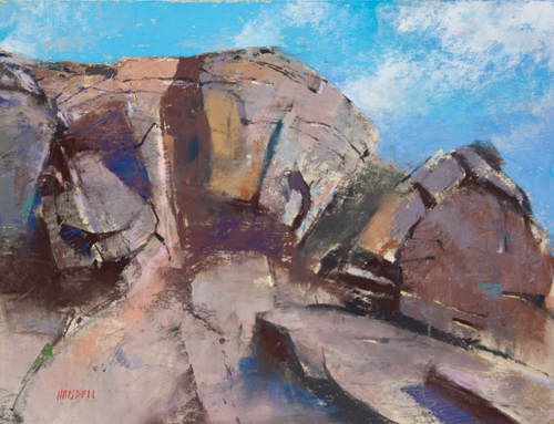 Rock Wall at Rio Rancho (pastel, 12x18) by Albert Handell