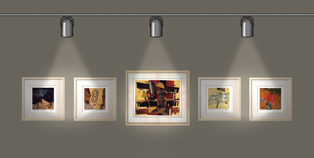 direct lighting in a gallery