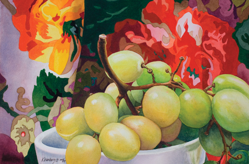 Bunch of Grapes (9 x 13 1/2) by Karin Isenburg
