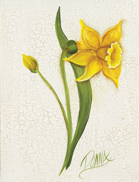 How to Paint a Daffodil by Donna Dewberry
