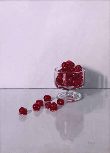Glacé Cherries (watercolor on paper, 14x10)