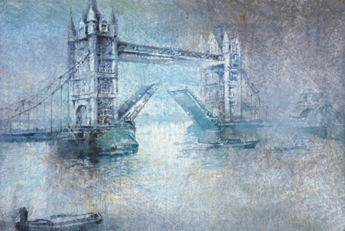 London Tower (watercolor on paper) by Antonio Masi