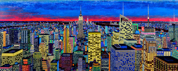 New York City painting by Tom Bacher in daylight