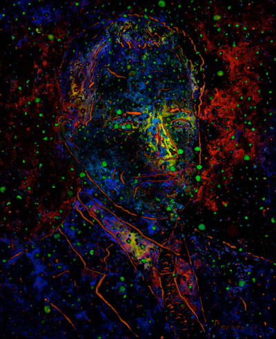 how luminescent paintings glow after five minutes in the dark