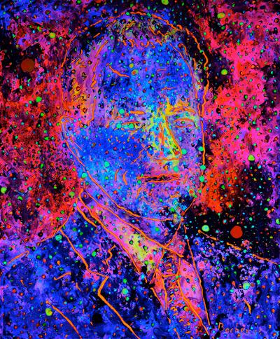 Marc Nebula by Tom Bacher lit by a black lighty