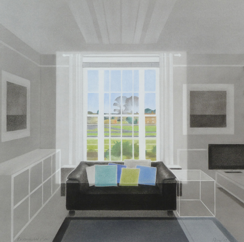 Interior (pastel on board) by Peter Vincent