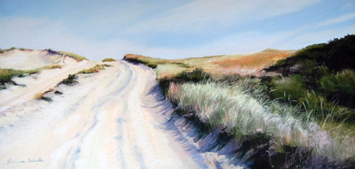 Just Over the Rise (pastel) by Jeanne Rosier Smith