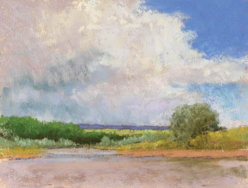 Moving Clouds (pastel) by Lee McVey