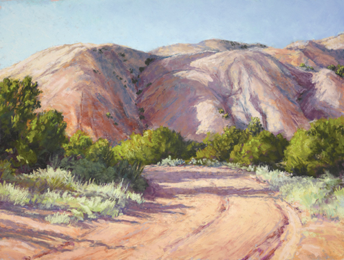 Road Near the Hill (pastel) by Lee McVey