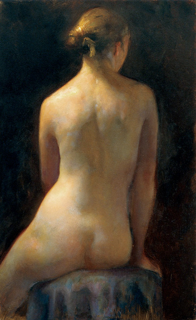 Rachel (oil, 21x13) by Juliette Aristides