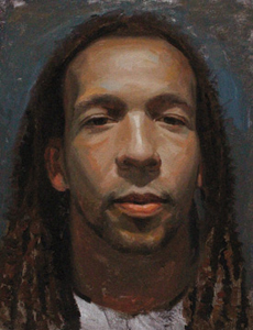 Carl, oil portrait painting by Russell Harris