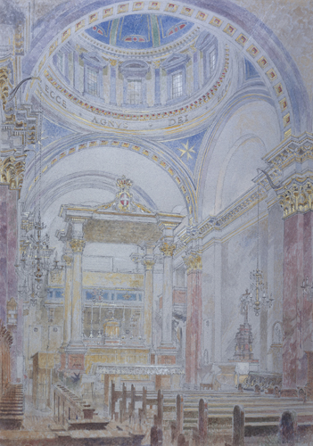 Chapel Of The Hospital by Charlotte Halliday | watercolor painting