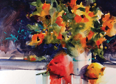 May Flowers, watercolor still life by Richard Stephens
