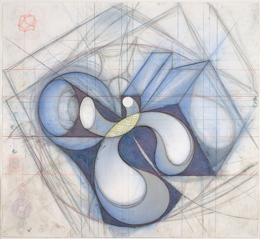 by John Newman, 1988, graphite, chalk, charcoal, and oil pastel.
