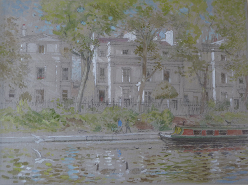 Summer Afternoon, Little Venice by Charlotte Halliday | watercolor landscape