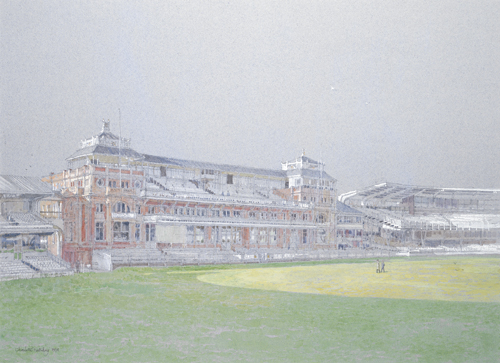 The Lords Pavilion by Charlotte Halliday | watercolor landscape