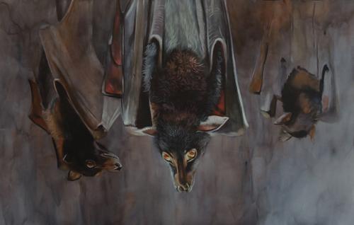 Trio of Terror (watercolor) by Anni Crouter