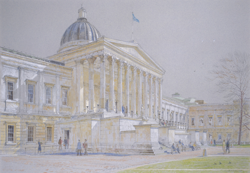 University College, London by Charlotte Halliday | watercolor city paintings
