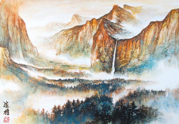 Yosemite-Sunrise_Chinese-Landscape_Lian-Quan-Zhen
