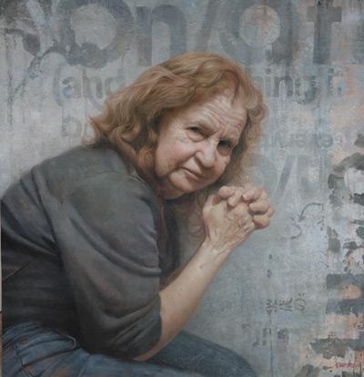 Portrait of the Artist's Mother (oil, 26x28) by David Jon Kassan