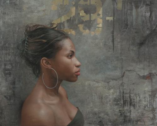 Grace in Prolfile (oil, 21x26) by David Jon Kassan