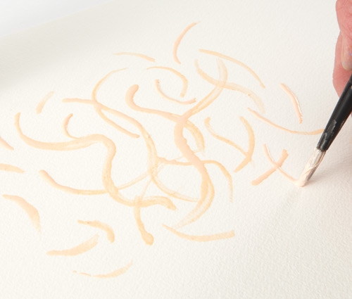 Apply masking fluid to the paper.