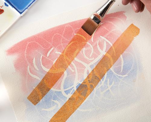 Apply a transparent glaze.