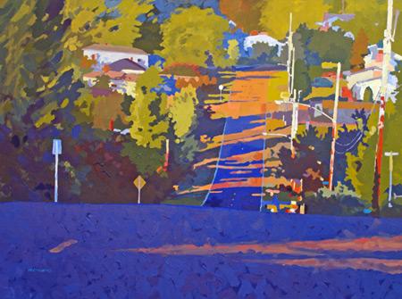 Evening Shadows (acrylic, 30x40) by Mark Mehaffey, color, acrylic