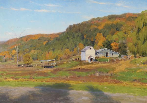 Oil landscape painting by Joe Paquet