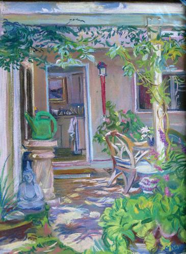Studio Garden (pastel, 16x12) by Gerald Rahm