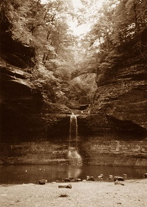 waterfall, sepia reference photo_Mary Ann Pals