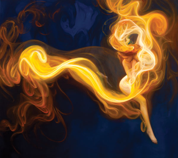 Light Dancer, oil painting by Dorian Vallejo