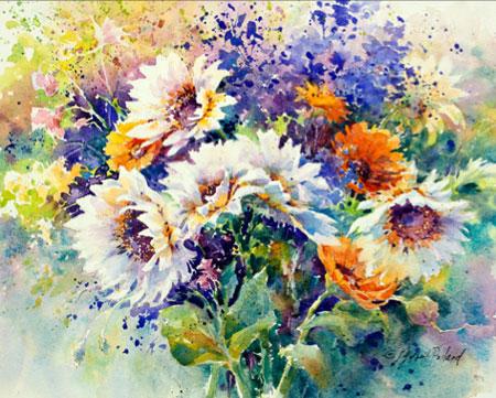 Farmer's Market Bouquet (watercolor, 11x14) by Julie Gilbert Pollard