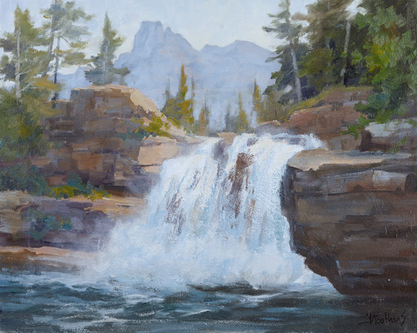 This waterfall scene is from Acrylic Landscape Painting Essentials