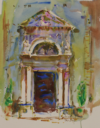 Salo, Italy (watercolor on paper) by Eric Wiegardt