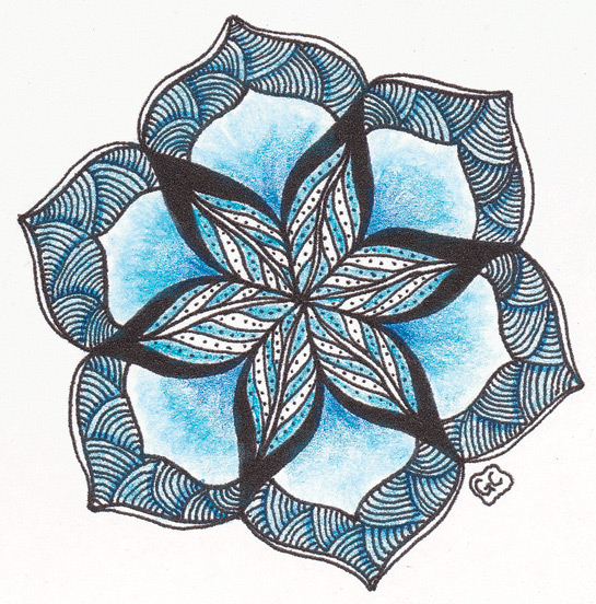 Zentangle_Blue-Heaven-by-Genevieve-Crabe