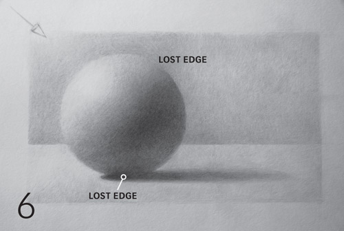 how to draw a sphere, realistic lost edges