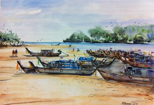 watercolor landscape | watercolor painting