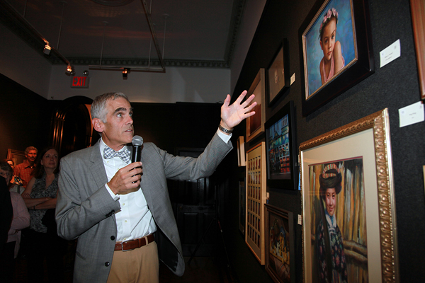 Me leading the Friday night Gallery Tour. (Photo courtesy of Brenda Mattson)