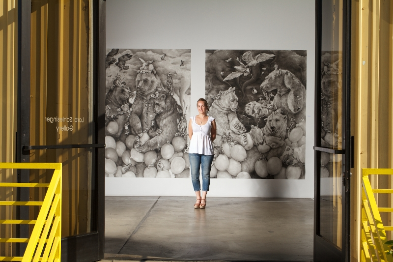 "Adonna Khare with her series ""In the Clouds."""