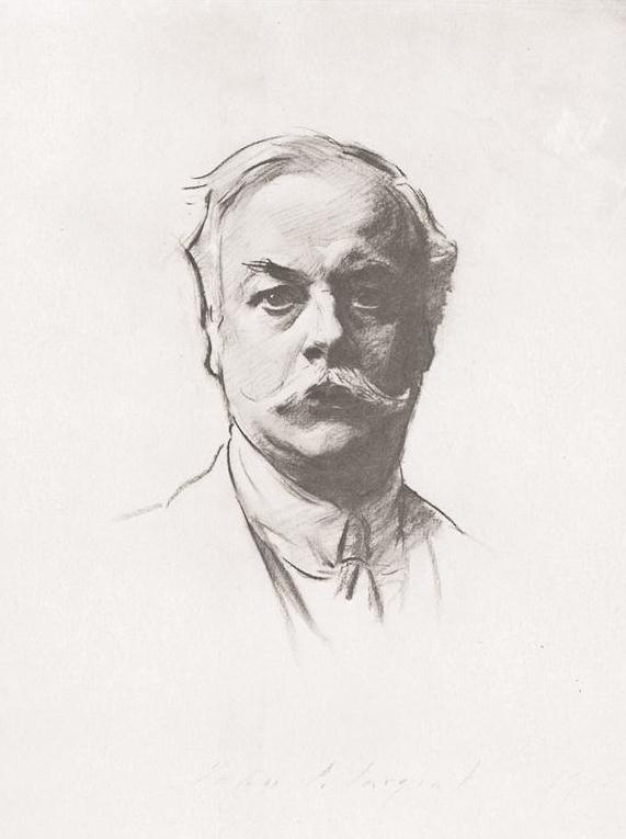 Kenneth Grahame, by John Singer Sargent, 1912, charcoal. Collection Bodleian Library, Oxford, England.