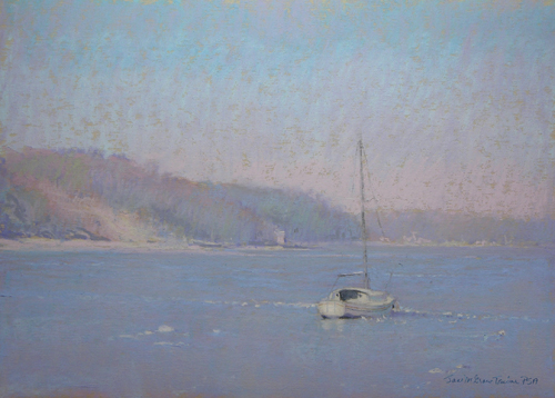 Northport Ice (pastel, 9x120 by Jane McGraw-Teubner