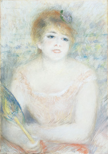 Portrait of Mlle Jeanne Samary by Pierre-Auguste Renoir
