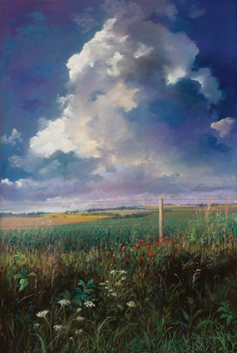 View From the Road (pastel) by Marcia Wegman