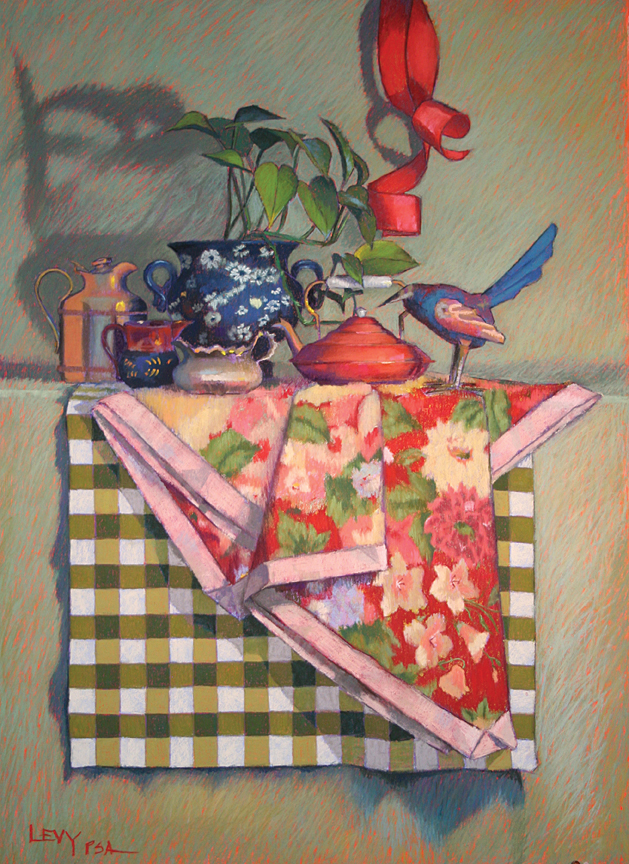Checkered Past (36x26) by Leslie Lillien Levy