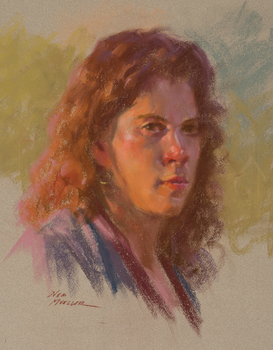 Art League Study by Ned Mueller | pastel portrait