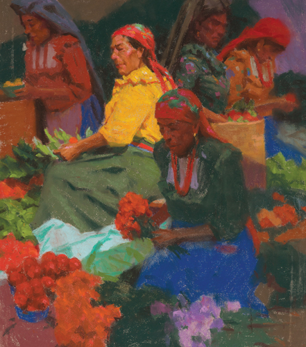 Guatemala Market by Ned Mueller | pastel portrait