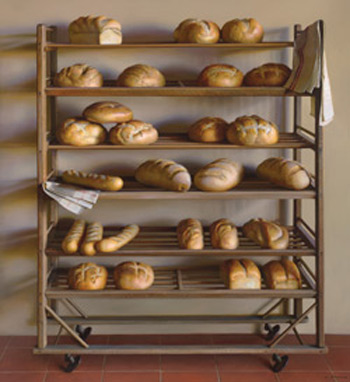 Bread Rack (oil, 66x60) by Jeffrey T. Larson