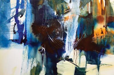Tropia (acrylic, 15x23) by Mel Grunau