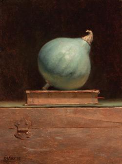Blue Ballet (oil, 12x9) by Todd M. Casey